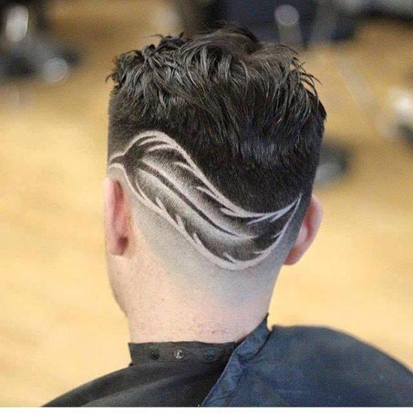 Cortes de pelo para hombre con dibujos