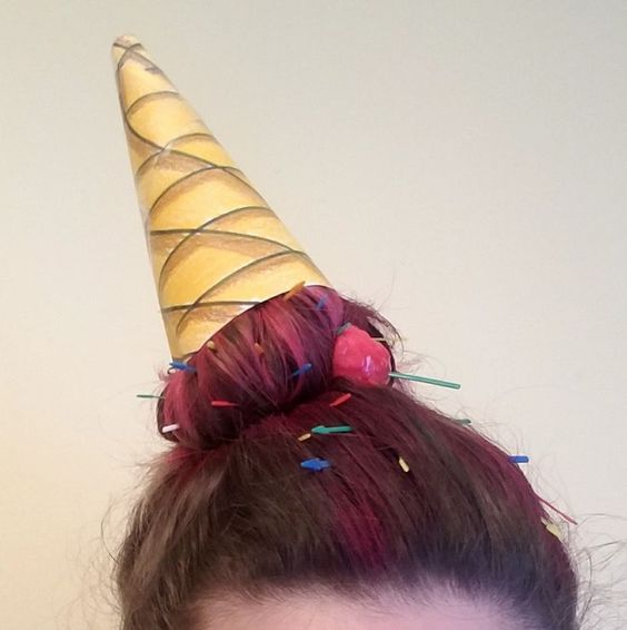 Creativo peinados divertidos para niña carnaval Imagen De Consejos De Color De Pelo - Peinados LOCOS para Niña, INCREIBLES, Divertidos, Fotos 【2021】