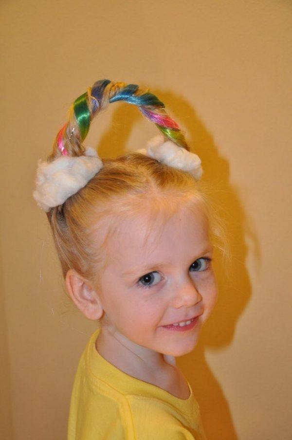 Sencillo y bonito peinados divertidos para niñas Fotos de cortes de pelo Consejos - Peinados LOCOS para Niña, INCREIBLES, Divertidos, Fotos 【2021】